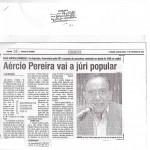 Reportagem - Aércio Pereira vai a juri popular